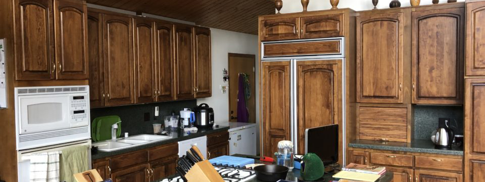 Restain Your Cabinets